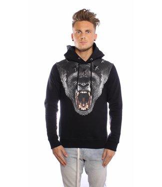 Conflict Conflict Hoodie Gorilla Black