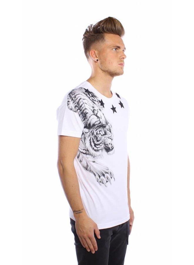 Conflict T-shirt Yakuza Tiger White