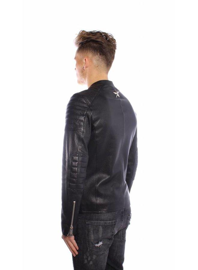 Conflict Leater Jacket Slim Black