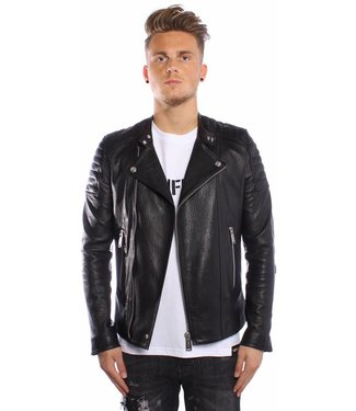 Conflict Conflict Leater Jacket Slim Black