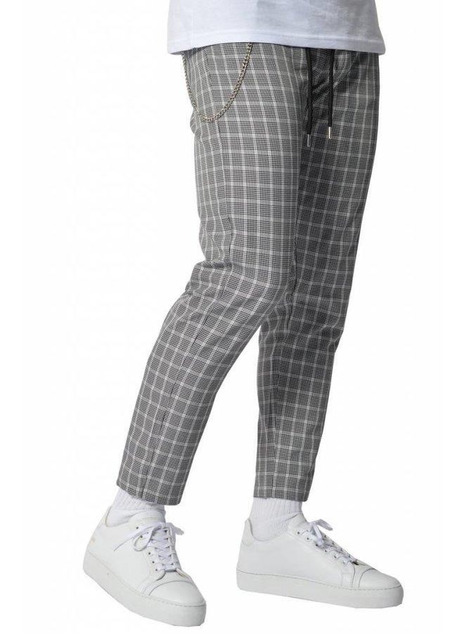 YCLO Elias Checkered Pants Black/White