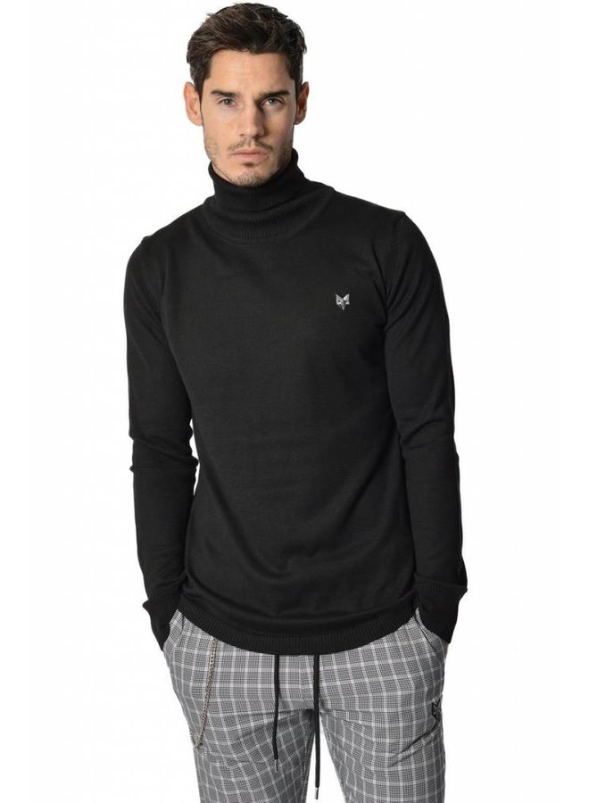 YCLO Emil Pullover Turtleneck Black