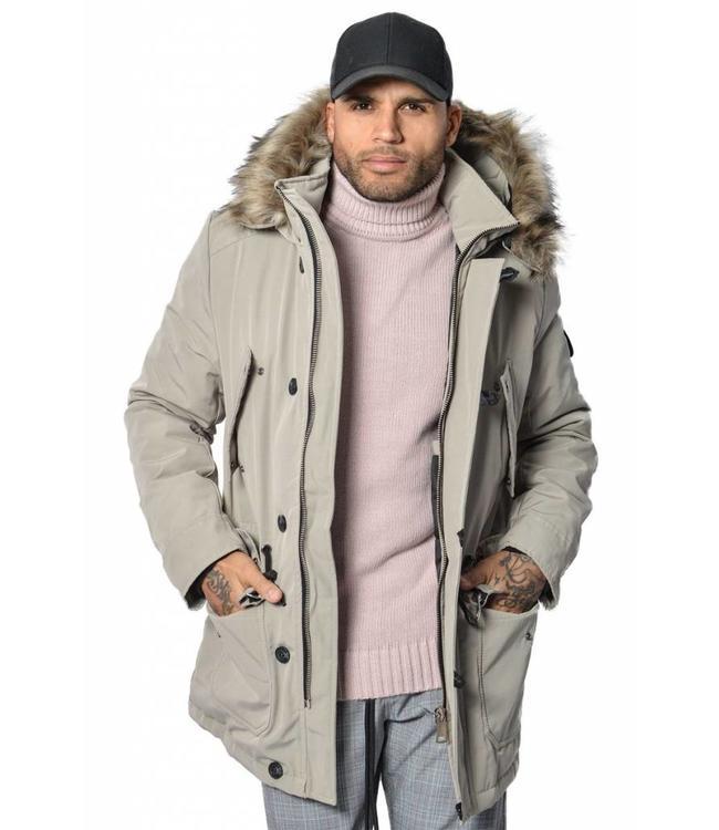 YCLO YCLO Kresten Parka Beige (Faux Fur)