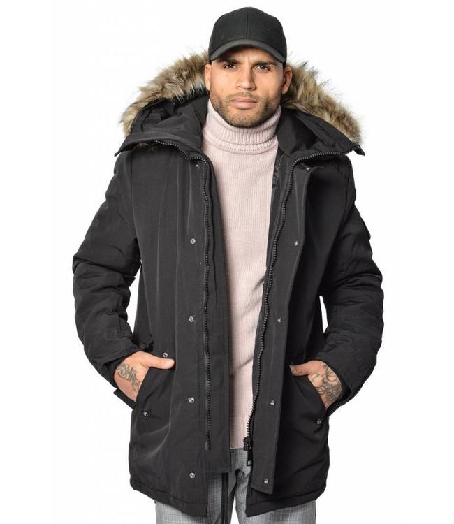 YCLO YCLO Torben Parka Black (Faux Fur)