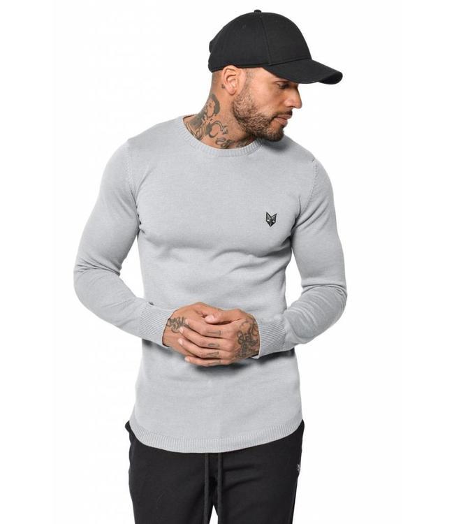 YCLO YCLO Knit Sweater Kaj Grey Melange