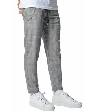 YCLO YCLO Elias Checkered Pants Grey