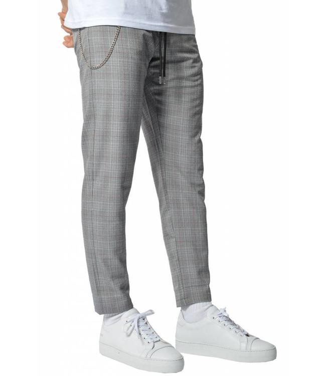 YCLO YCLO Elias Checkered Pants Grey