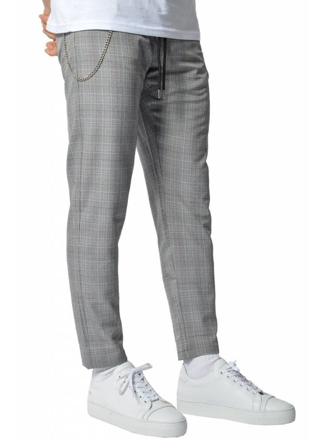 YCLO Elias Checkered Pants Grey