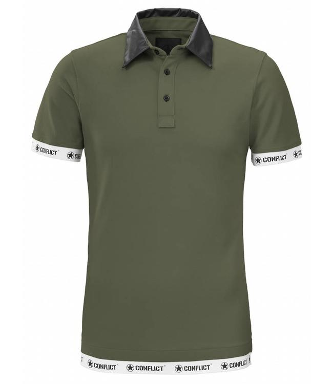 Conflict Conflict Polo Leather Army