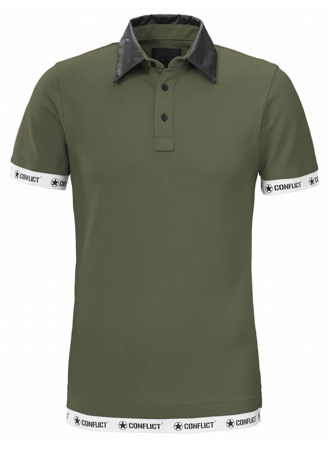 Conflict Polo Leather Army