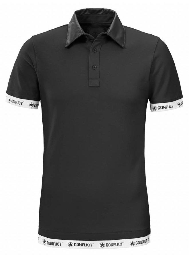 Conflict Polo Leder schwarz