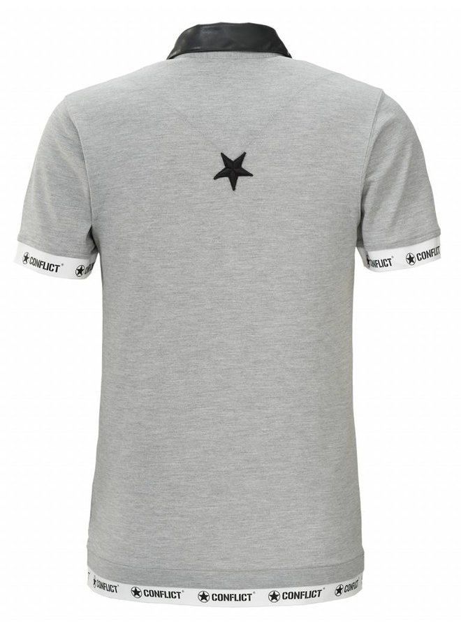 Conflict Polo Leather Grey