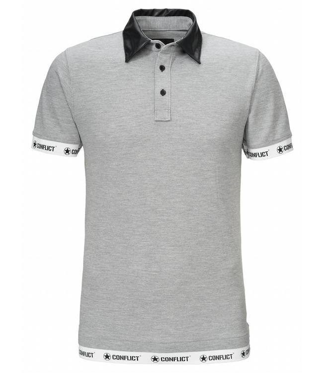 Conflict Conflict Polo Leather Grey