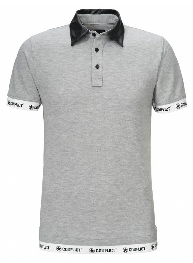 Conflict Polo Leather Gray