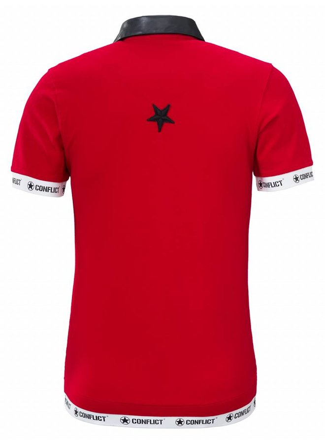 Conflict Polo Leder rot