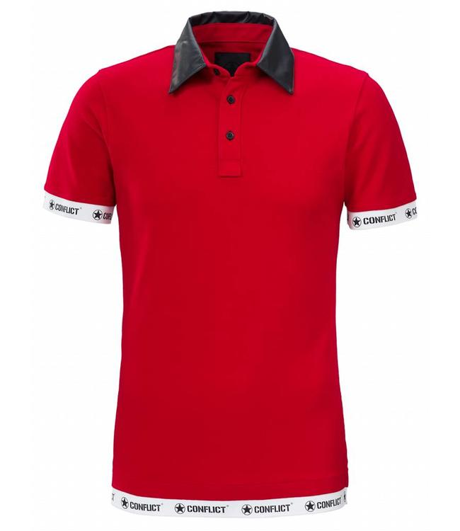 Conflict Conflict Polo Leather Red