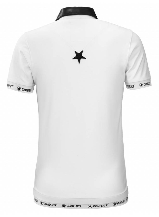 Conflict Polo Leather White