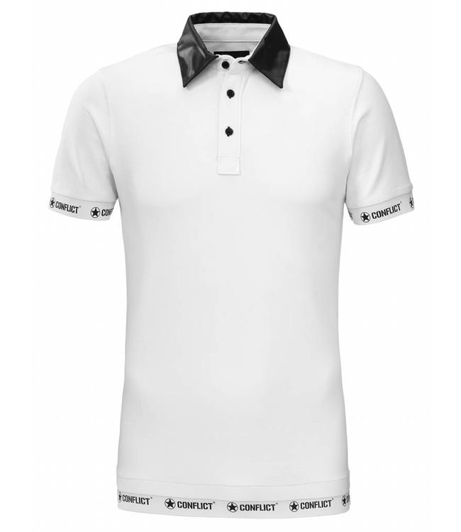 Conflict Conflict Polo Leather White