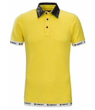 Conflict Conflict Polo in pelle gialla