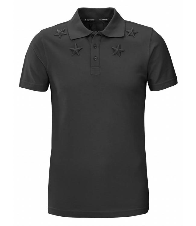 Conflict Conflict Polo Metal Stars Black