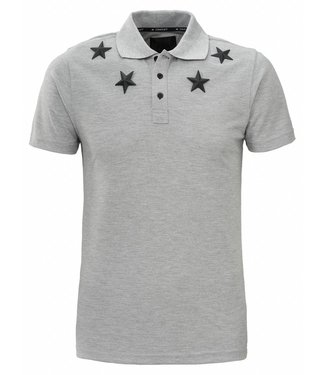 Conflict Conflict Polo Metal Stars Gray