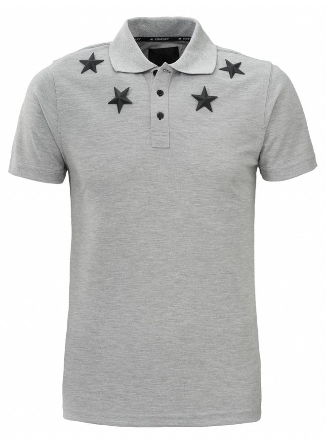 Conflict Polo Metal Stars Grey