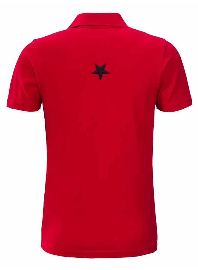 Conflict Polo Metal Stars Red