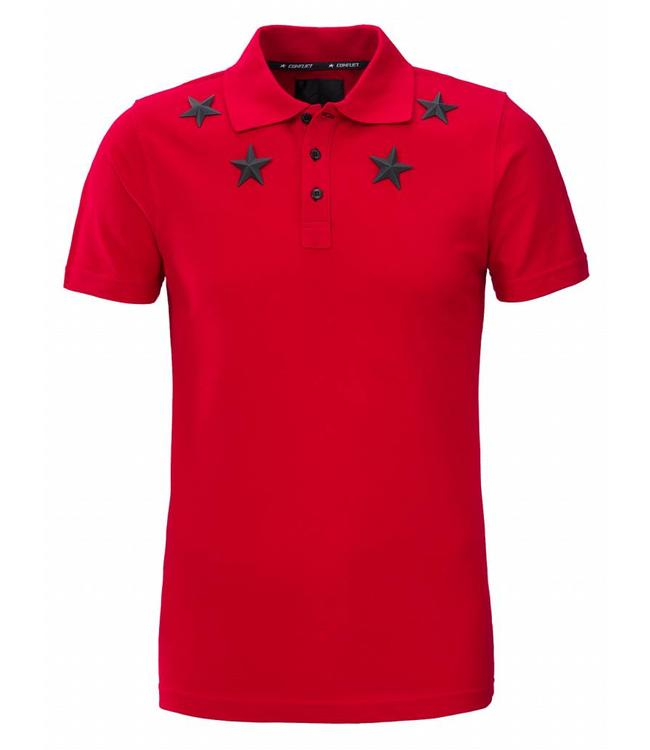 Conflict Conflict Polo Metal Stars Red