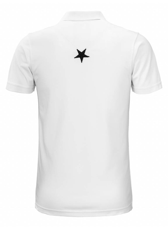 Conflict Polo Metal Stars White