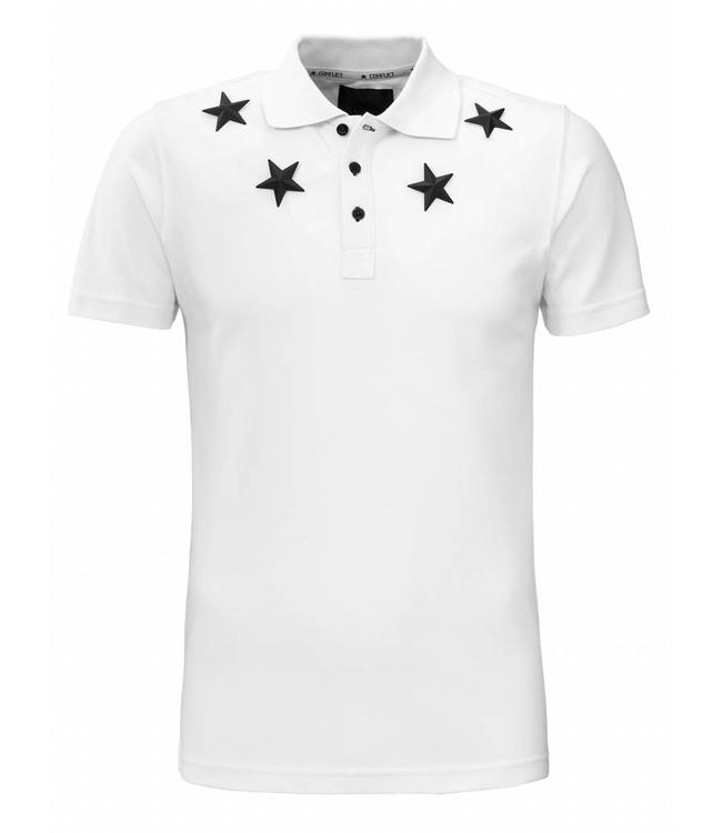 Conflict Conflict Polo Metal Stars White