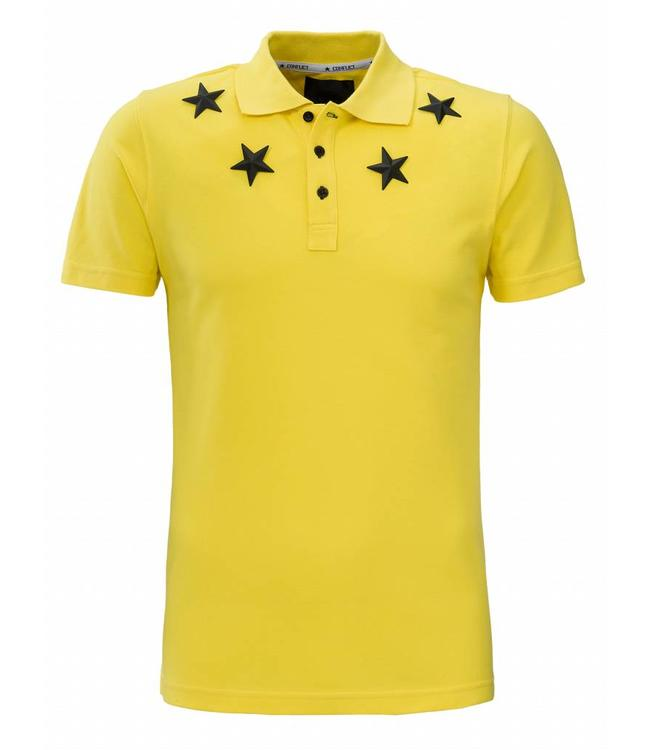 Conflict Conflict Polo Metal Stars Yellow