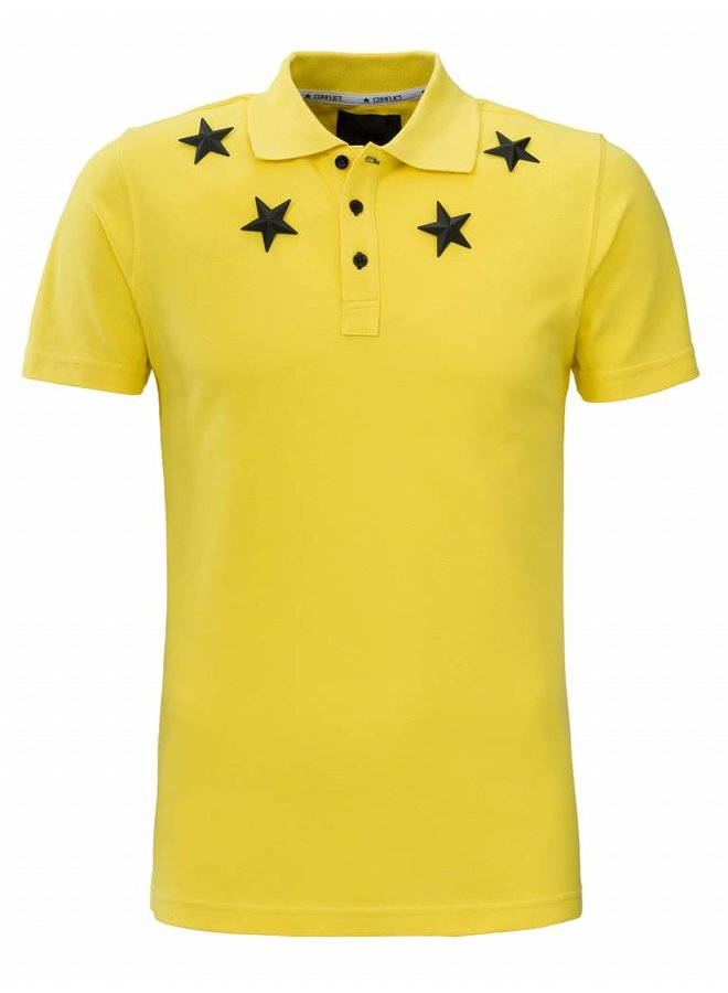 Conflict Polo Metal Stars Yellow
