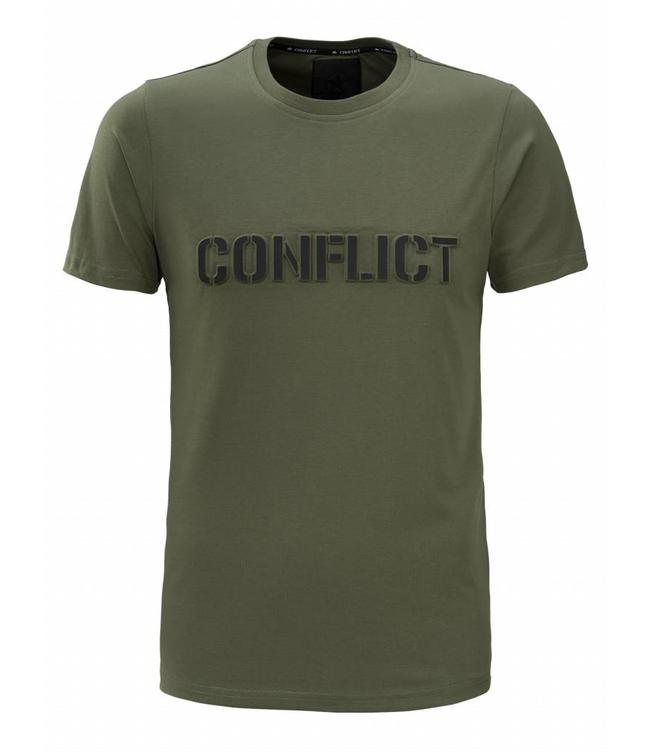 Conflict Conflict T-shirt Logo Army