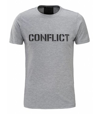 Conflict Conflict T-shirt 3D Logo Gray