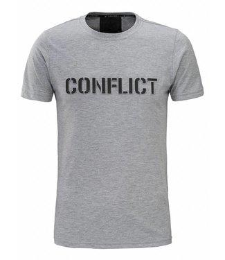 Conflict Conflict T-shirt 3D Logo Grey