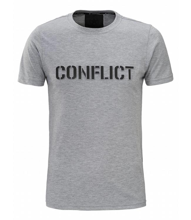 Conflict Conflict T-shirt Logo Grey