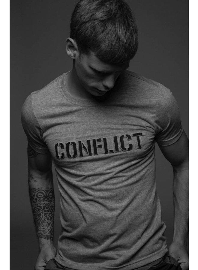 Conflict T-shirt 3D Logo Grey