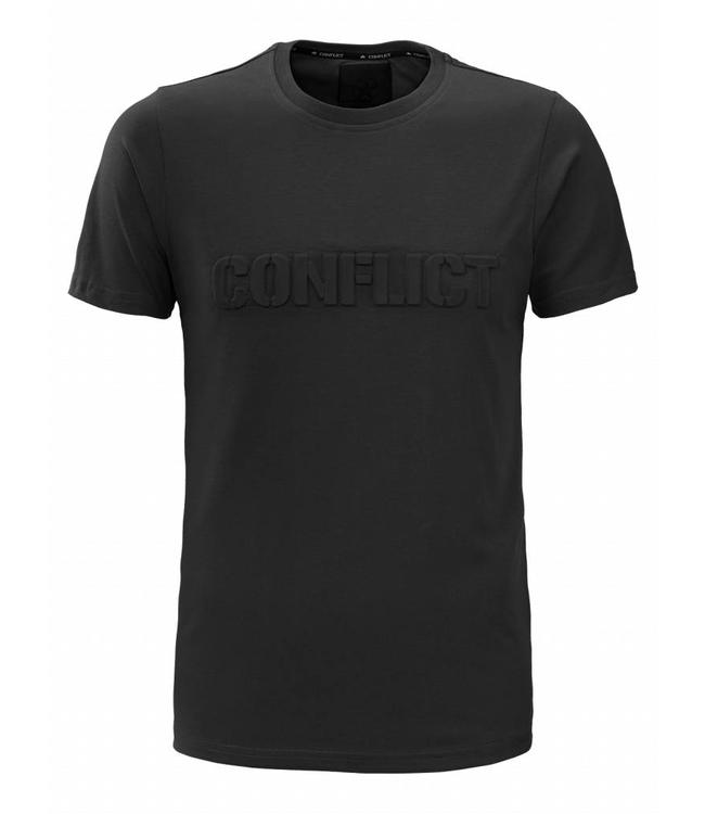 Conflict Conflict T-shirt 3D Logo Black