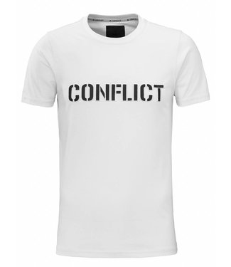 Conflict Conflict T-Shirt 3D Logo White