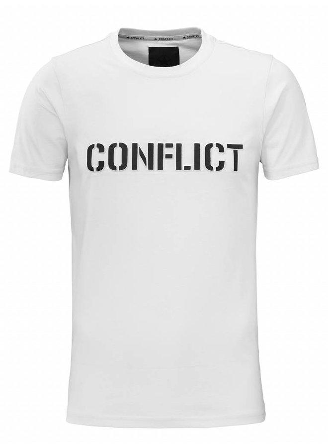 Conflict T-Shirt 3D Logo Weiß
