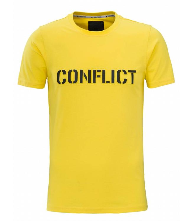 Conflict Conflict T-shirt Logo Yellow