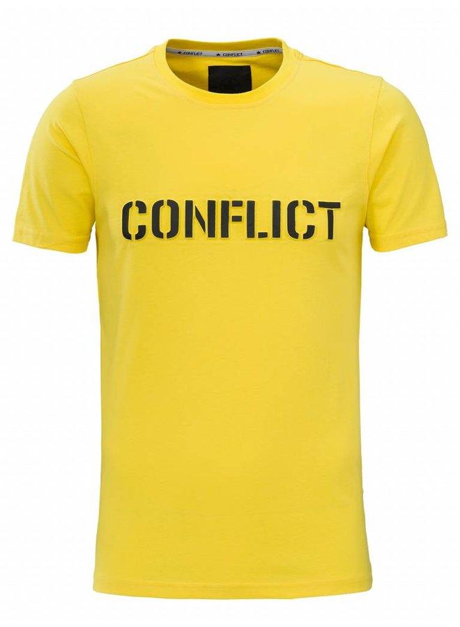Conflict T-shirt 3D Logo Yellow