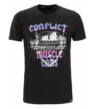 Conflict Conflict T-Shirt Muscle Cars Black