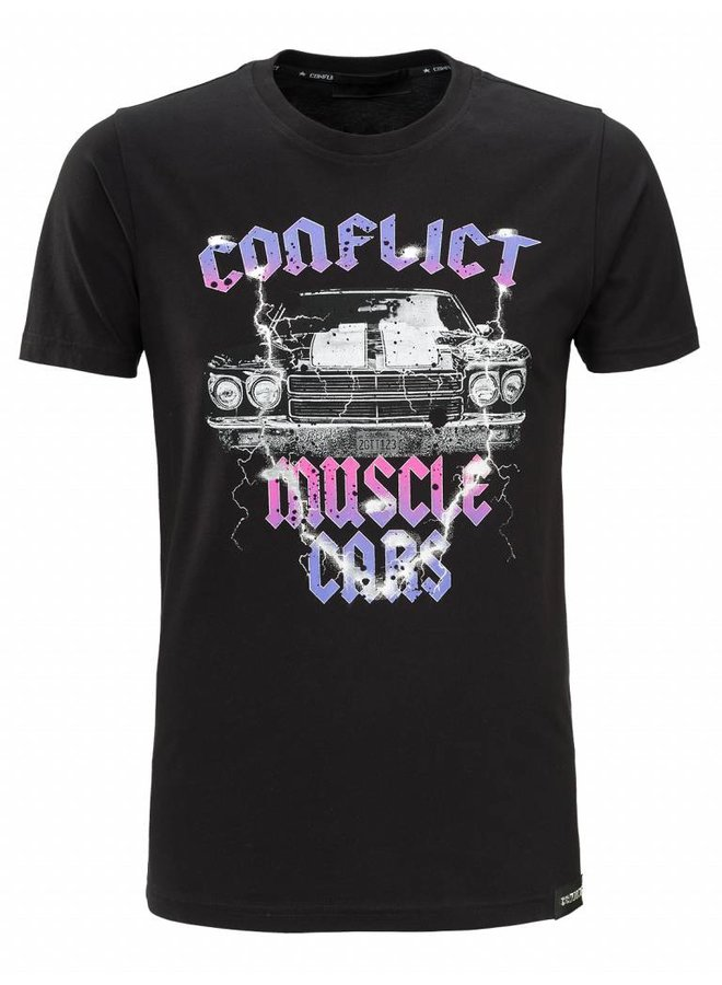 Conflict T-Shirt Muscle Cars Black