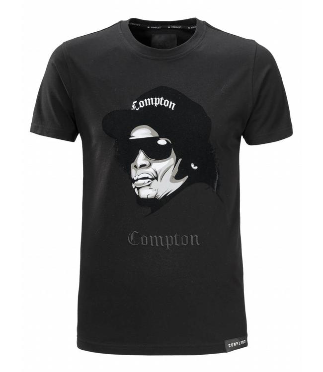 Conflict Conflict T-shirt Compton Black