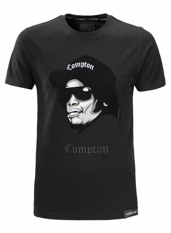 Conflict T-shirt Compton Black