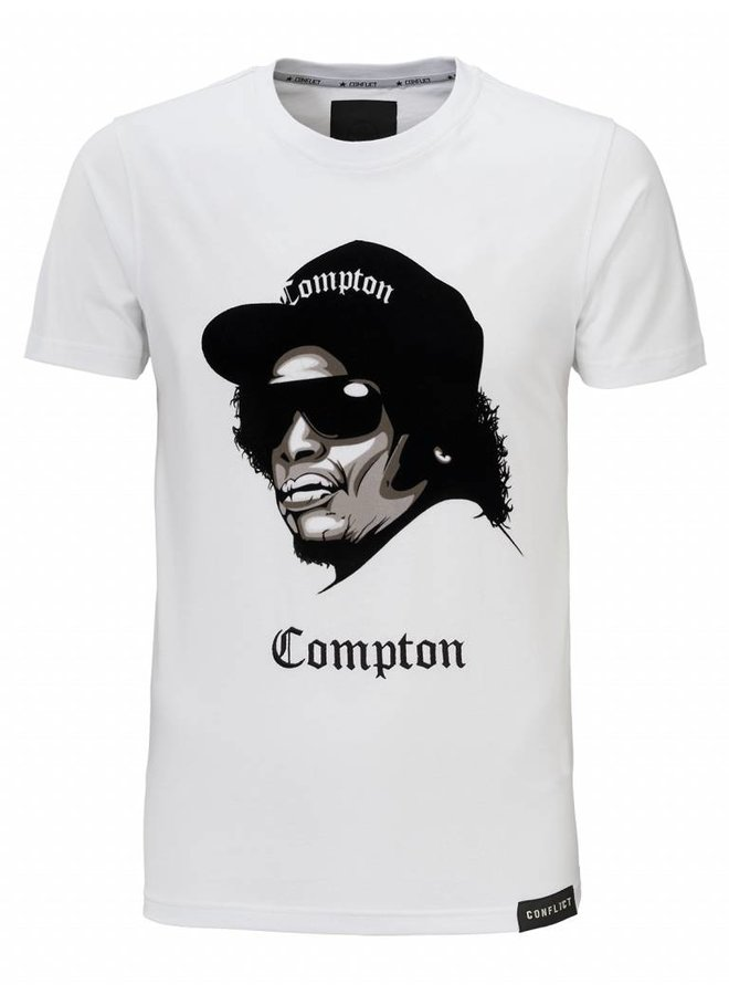 Conflict T-Shirt Compton Weiß