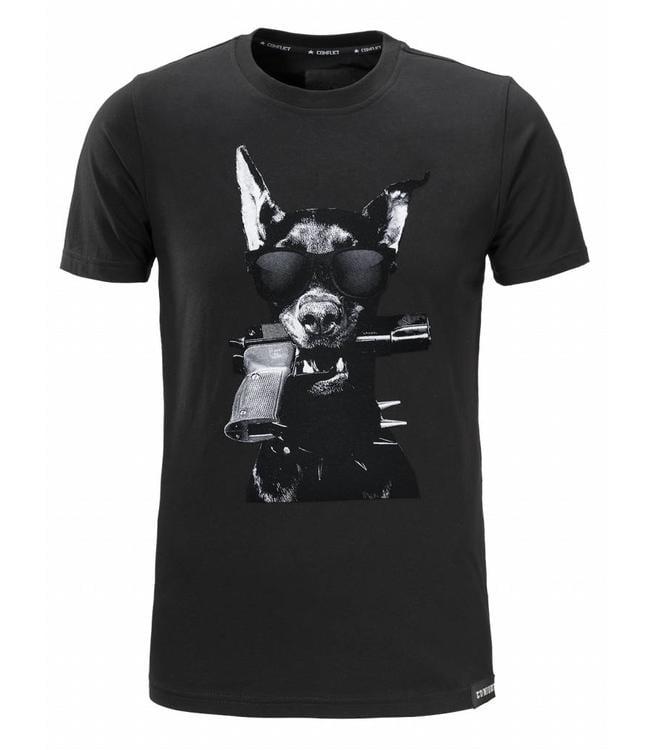 Conflict Conflict T-Shirt Dobermann Black