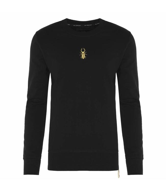 Conflict Conflict Sweater Golden Zip Black