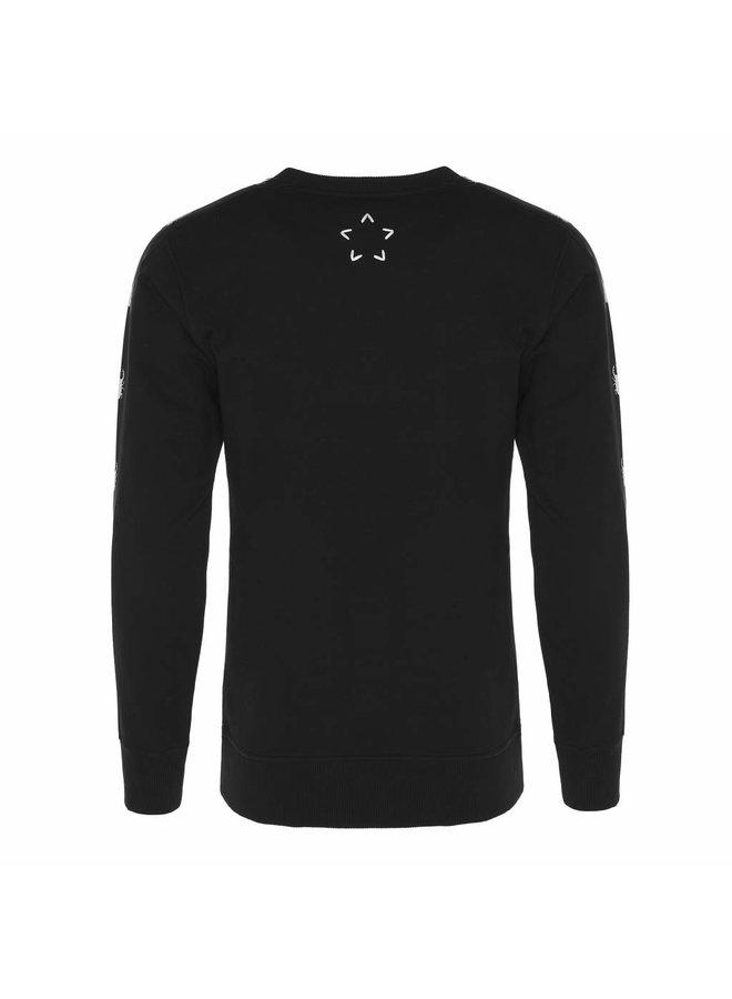 Conflict Sweater Line Schwarz